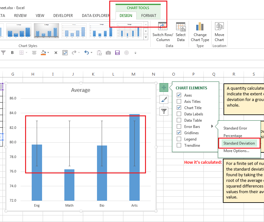 How To Create Standard Deviation Error Bars In Excel