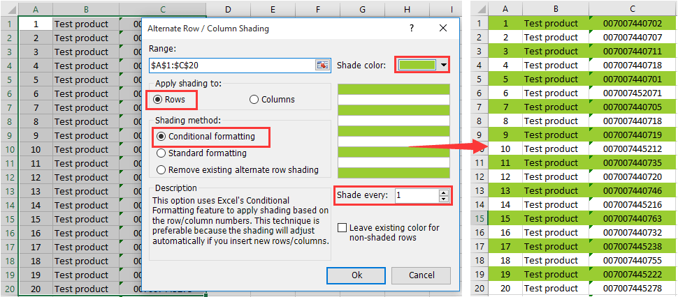 How To Shade Every Other Or Alternate Rows In Excel