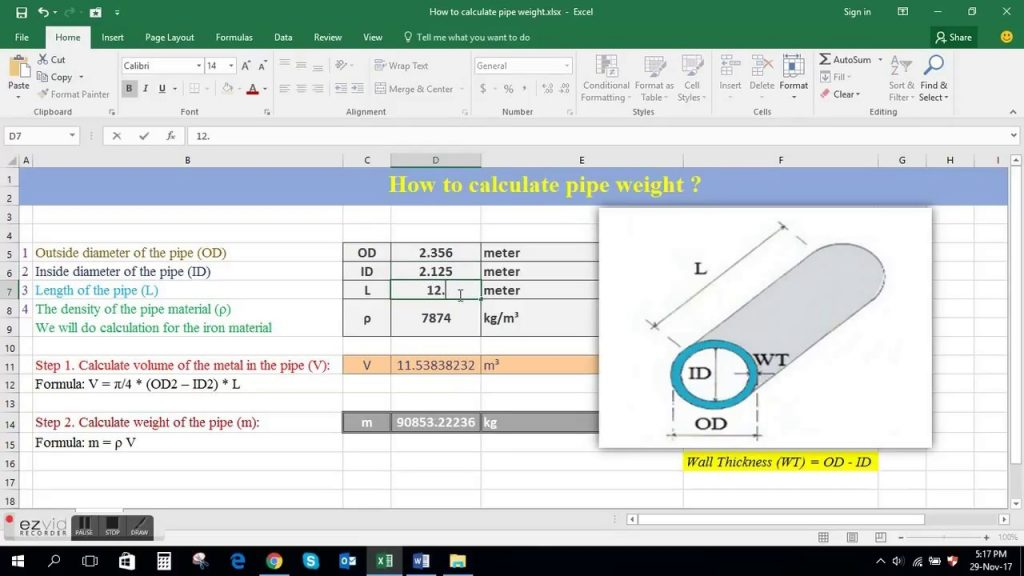 How To Calculate Pipe Weight YouTube
