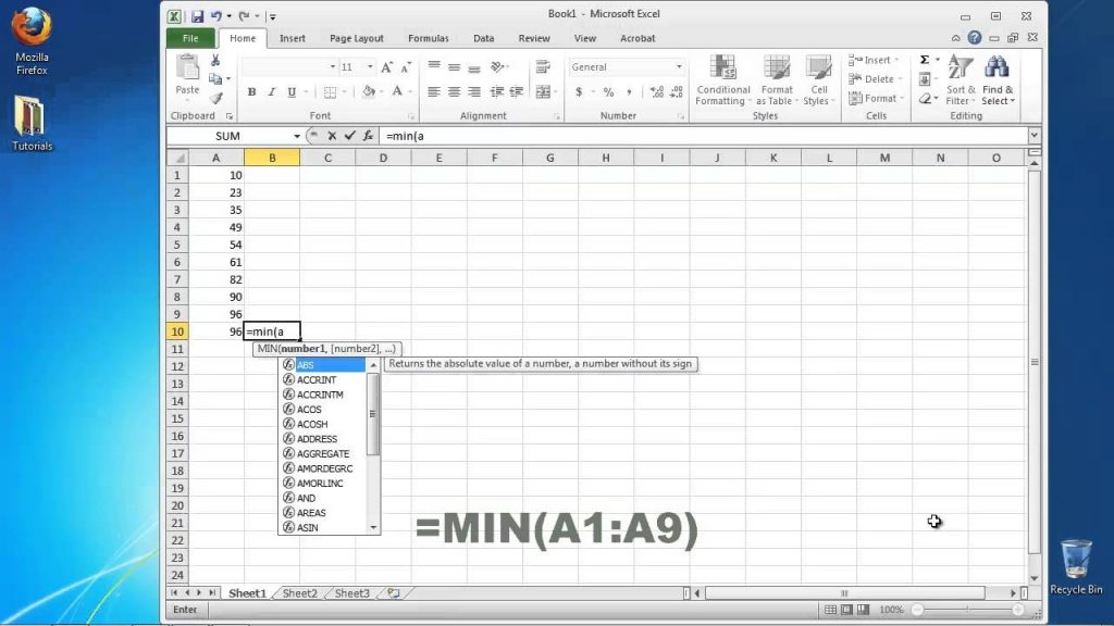 How To Calculate The Range In Excel YouTube