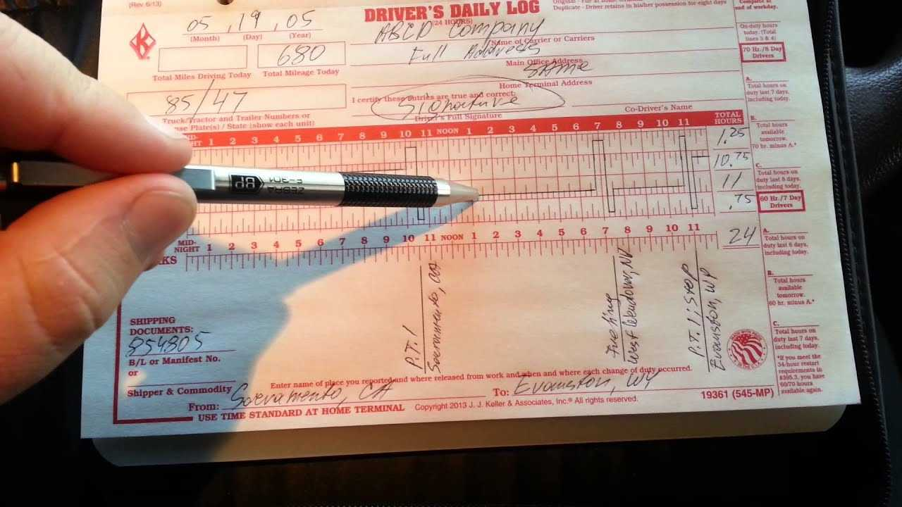How To Fill Out A Truck Driver Log Book NEW And UPDATED