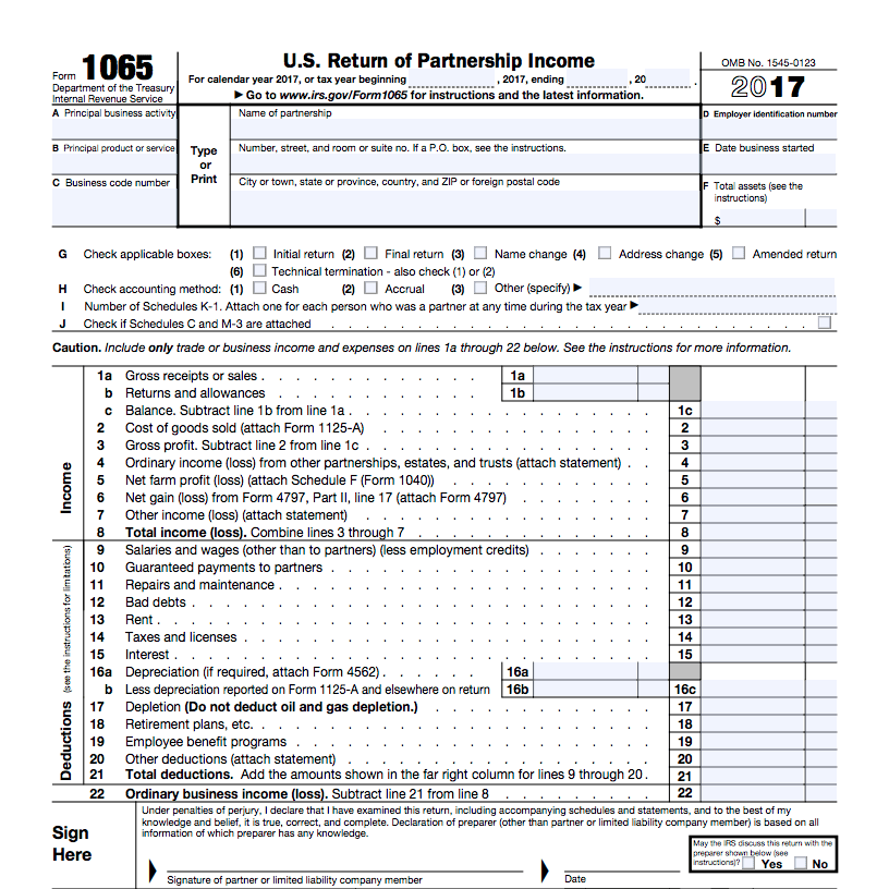 How To Fill Out Form 1065 Overview And Instructions