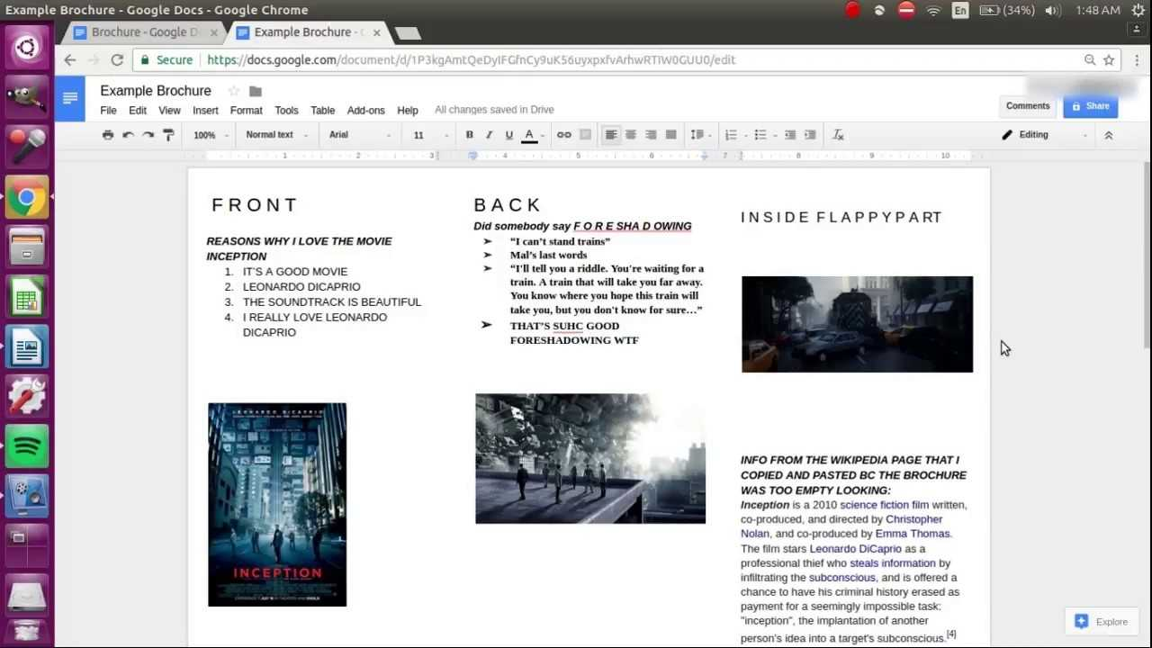 How To Make A Brochure On Google Docs YouTube