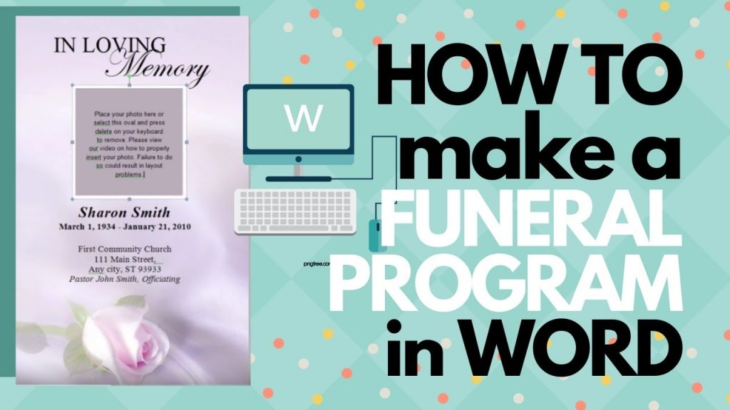 How To Make A Funeral Program In Word YouTube