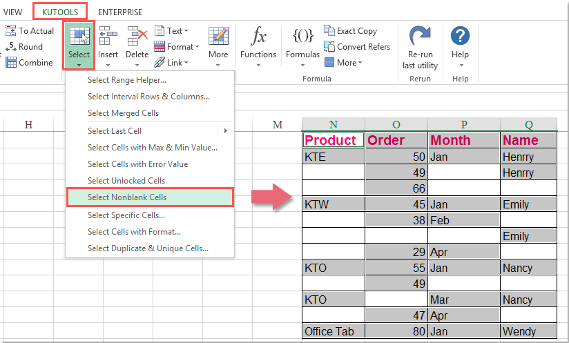 How To Select All Cells With Data In Excel