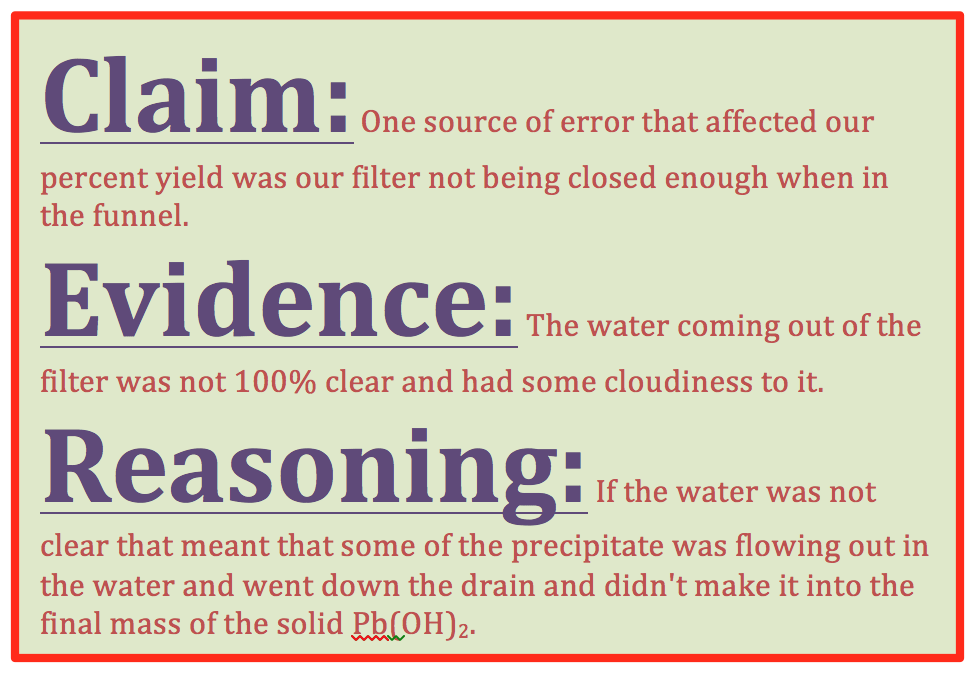 Implementing The Claim Evidence Reasoning Framework In