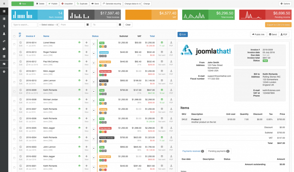 Invoice Manager Invoice Billing Creator Manager