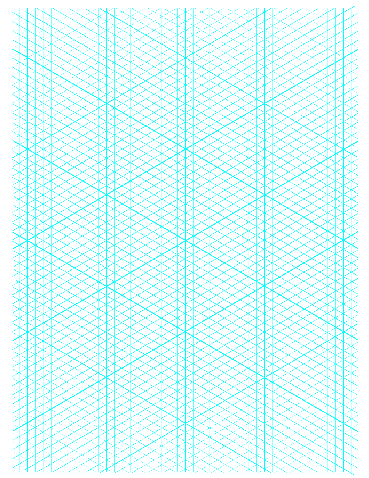 5 Free Isometric Graph Grid Paper Printable PDF