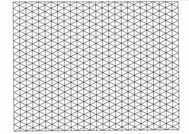 A4 Isometric 5mm Graph Paper 50 Sheets Pad 90gsm Quality