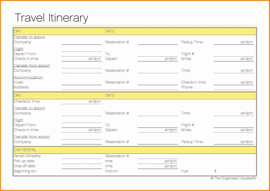 Travel Itinerary Template Google Docs Charlotte Clergy