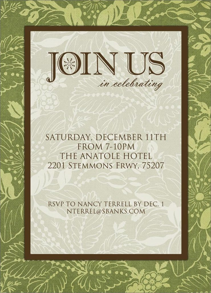 Join Us Formal Invitation Holiday Party From CardsDirect