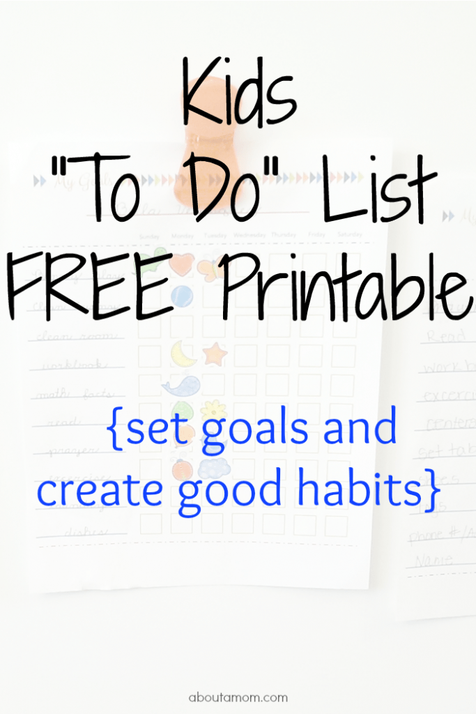 Kids To Do List Printable About A Mom