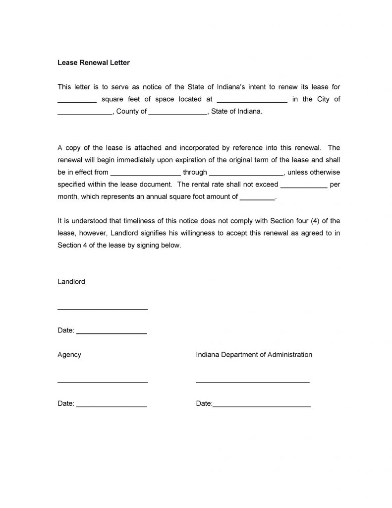 Landlord Not Renewing Lease Letter To Tenant Sample