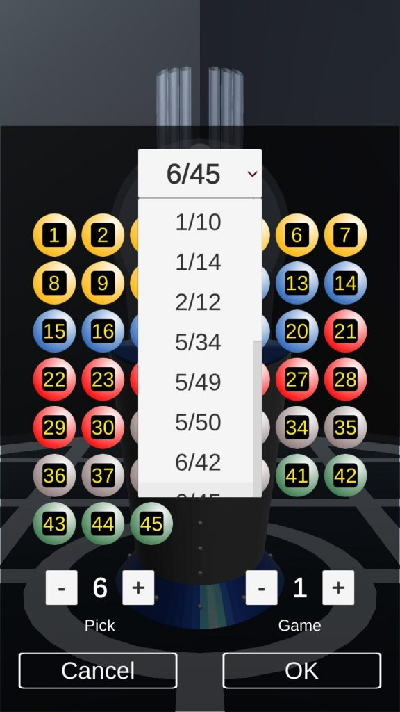Lotto Girl Lottery Machine Simulator For Android APK