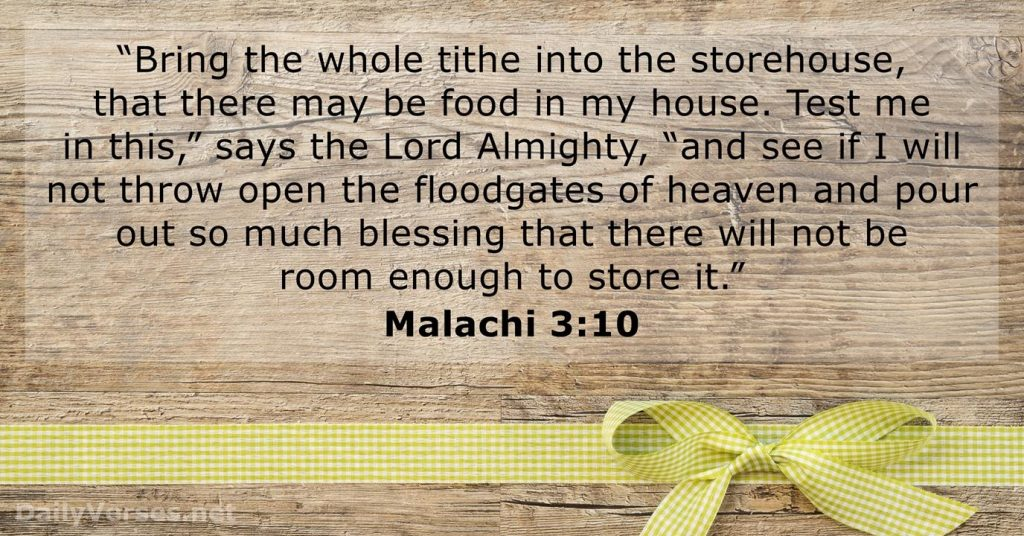 Malachi 3 10 Bible Verse Of The Day DailyVerses
