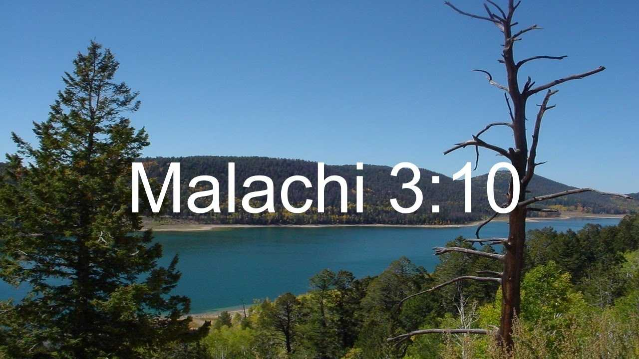 Malachi 3 10 Explained YouTube