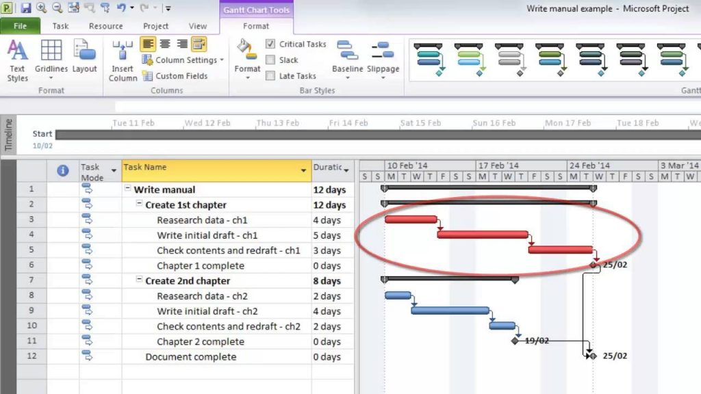 Microsoft Project Tutorial Understanding The Critical