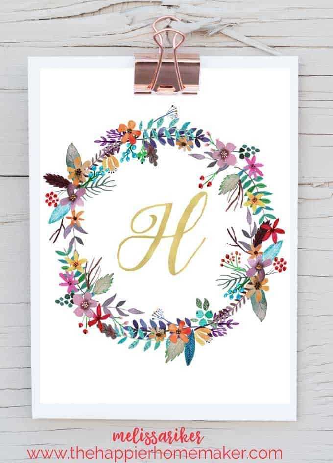 Free Printable Monogram Art The Happier Homemaker