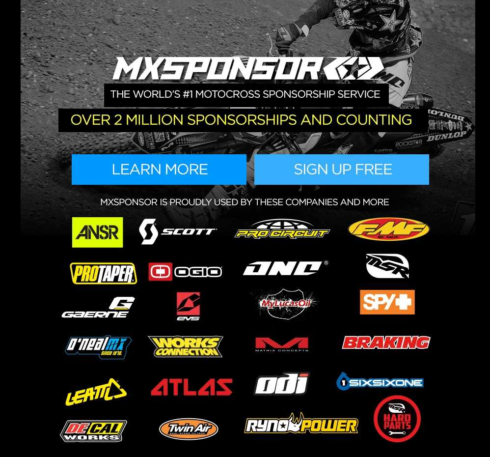 Motocross Sponsorship Motocross Sponsorships MX