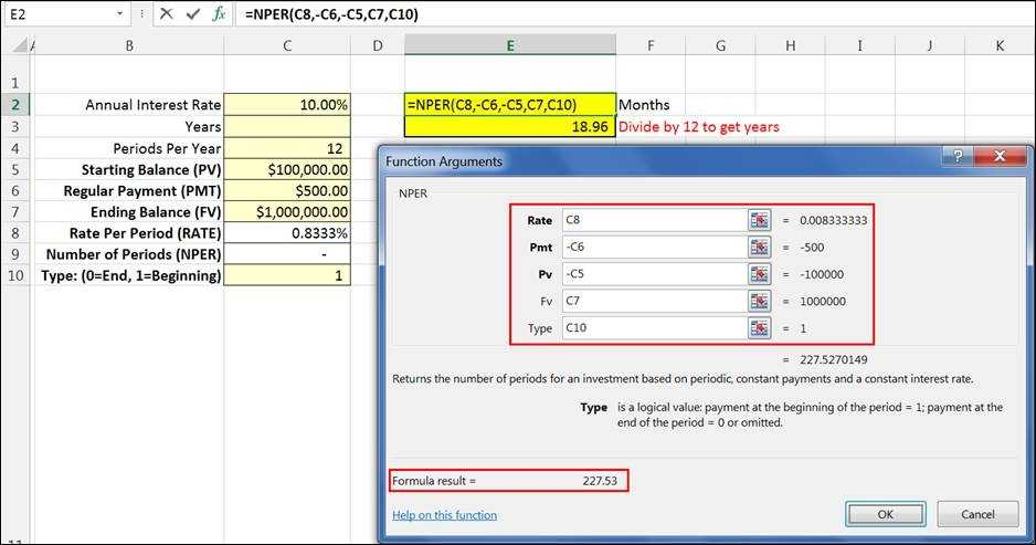 Excel The NPER Number Of Periods Function
