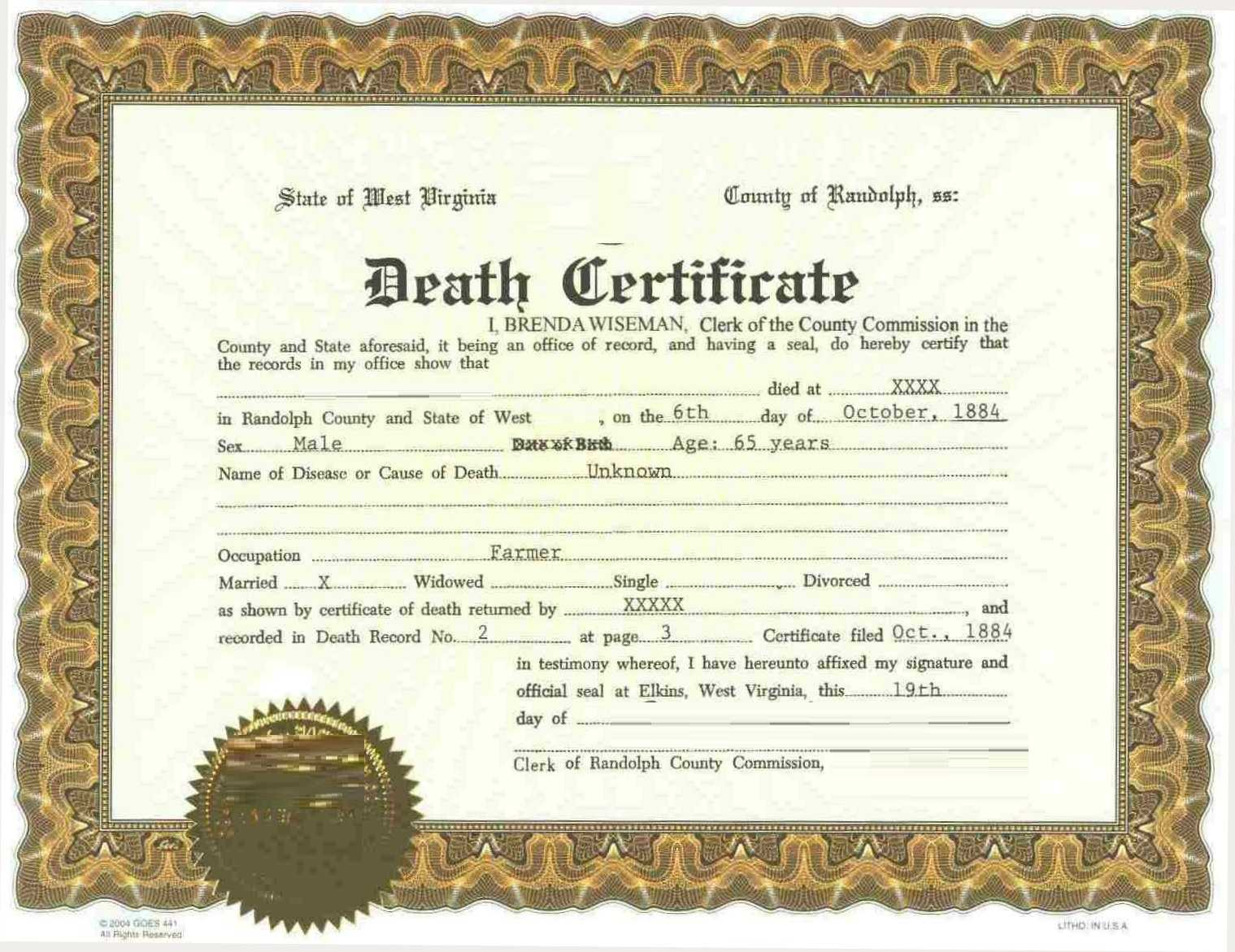 Online Procedure For Application Of Death Certificate In