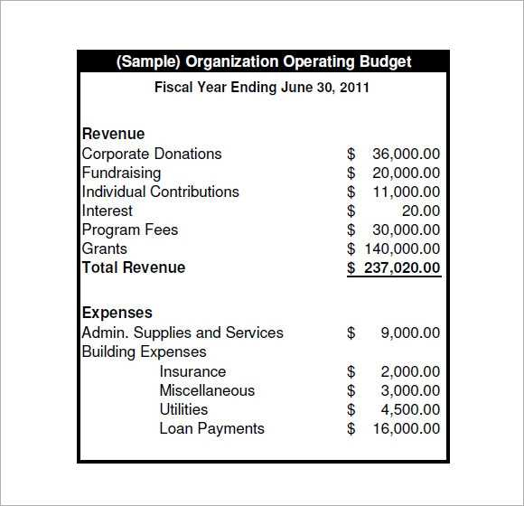 FREE 13 Operating Budget Samples In Google Docs Google