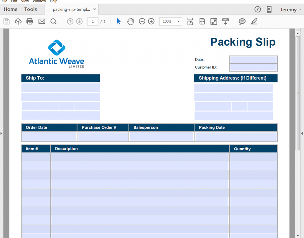 Automatically Generate Packing Slips From Salesforce