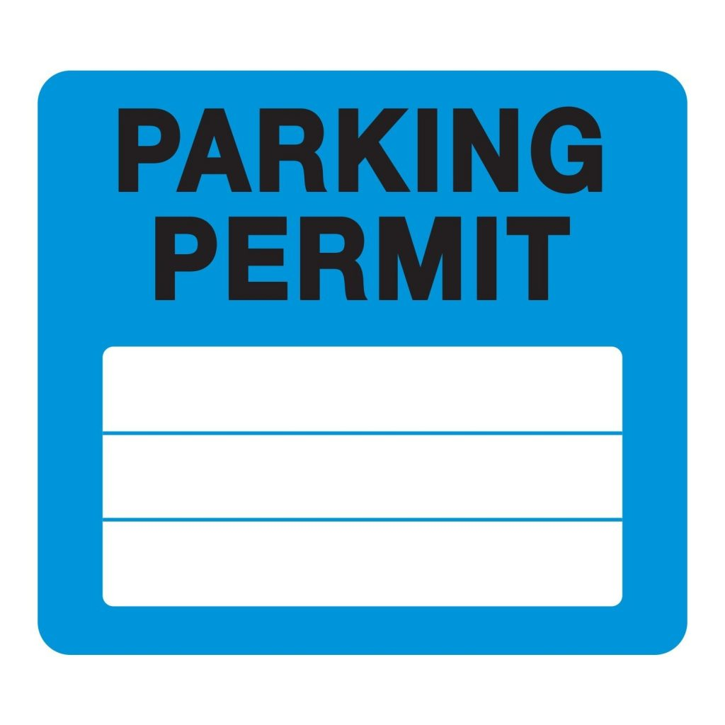 Milcoast Parking Permit Pass Stock Static Cling Non