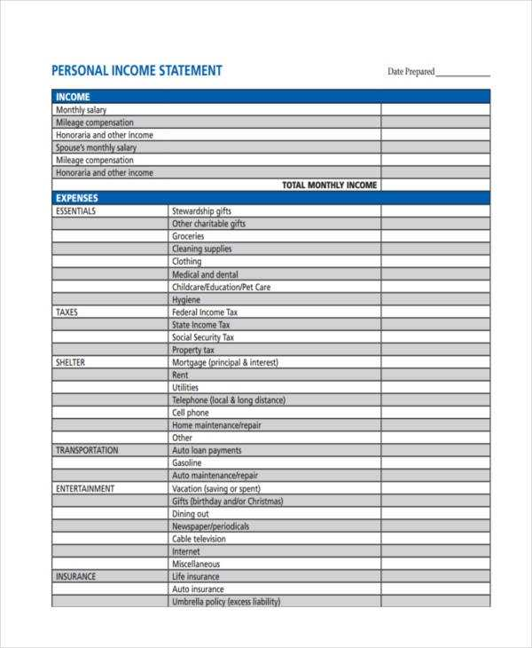 FREE 53 Income Statement Examples Samples In PDF