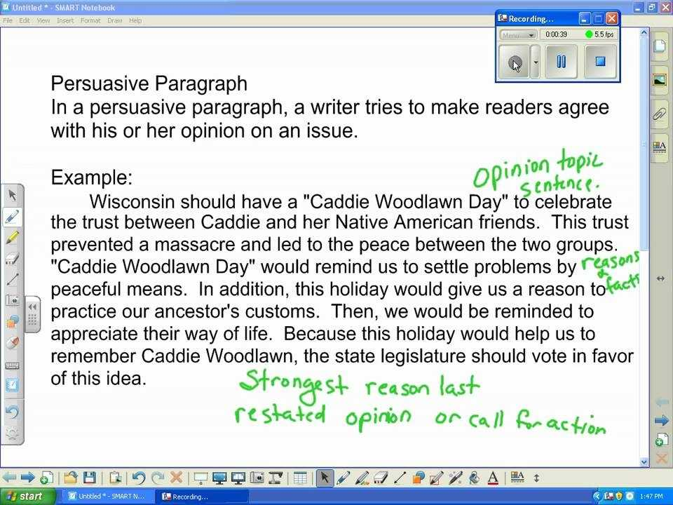Persuasive Paragraph wmv YouTube