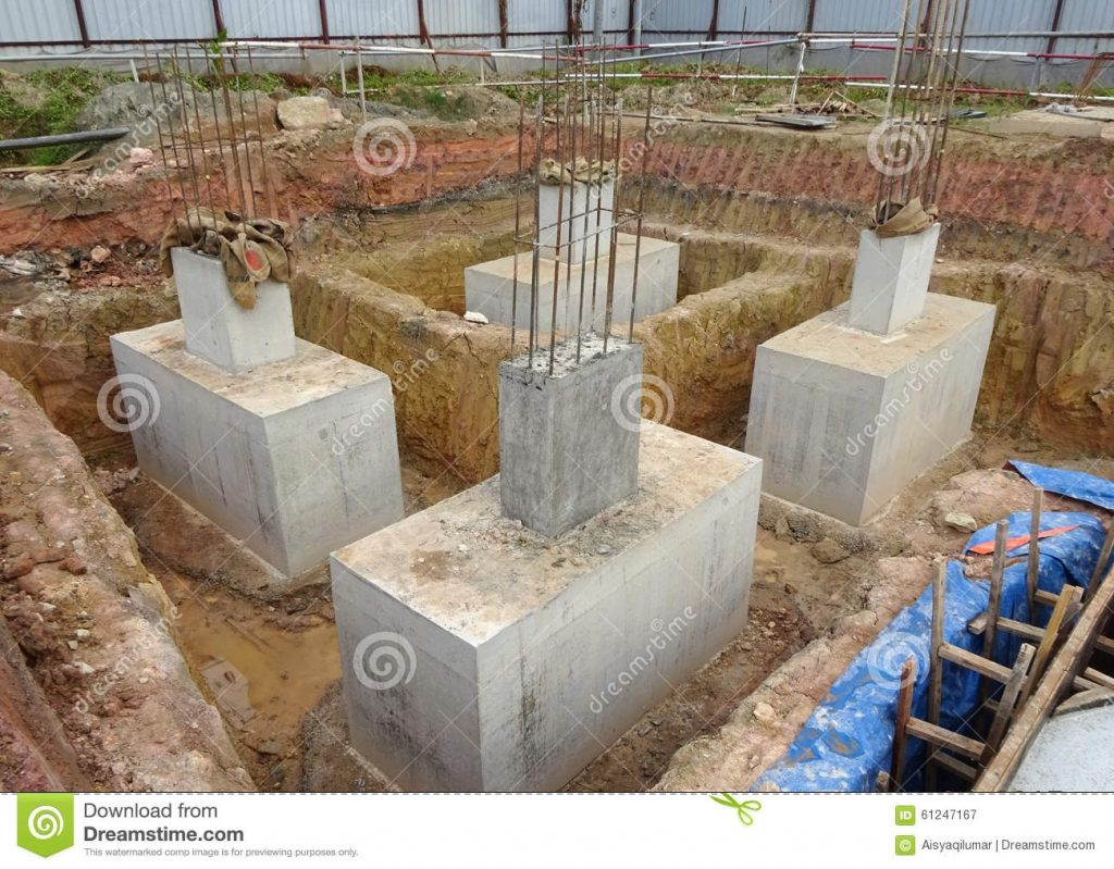 Pile Cap Is Part Of Building Substructure And Foundation