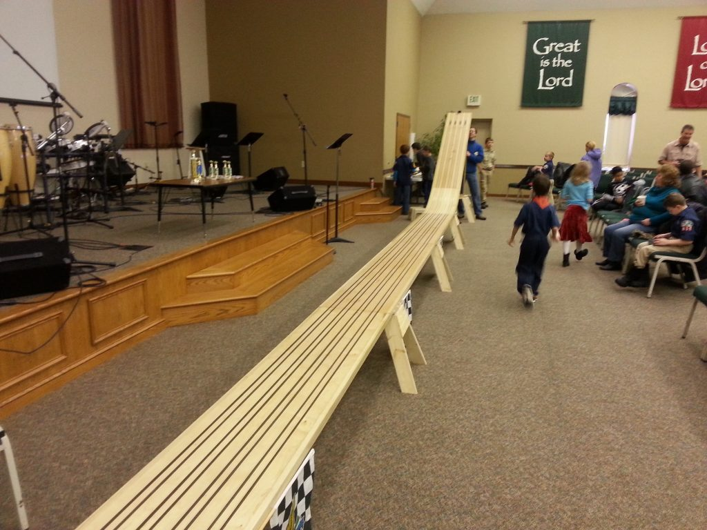 Pinewood Derby Track Plans