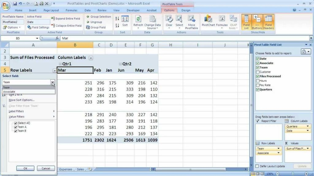 How To Sort A PivotTable In Excel 2007 Excel 07 108