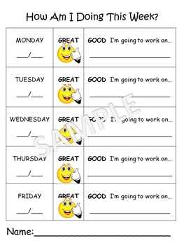 Positive Behavior Chart By All Things Preschool TpT