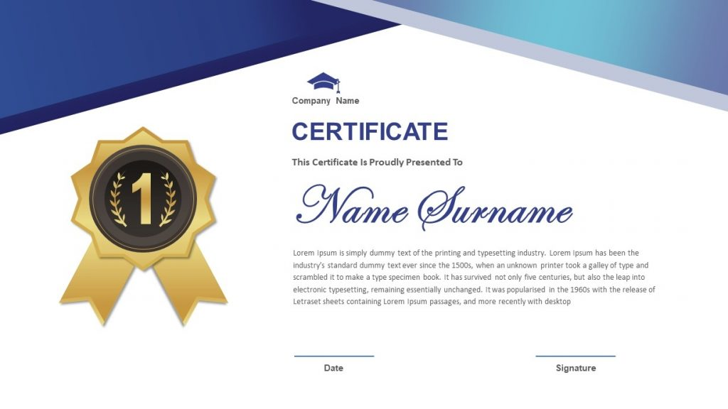 PowerPoint Certificate Template For Presentations