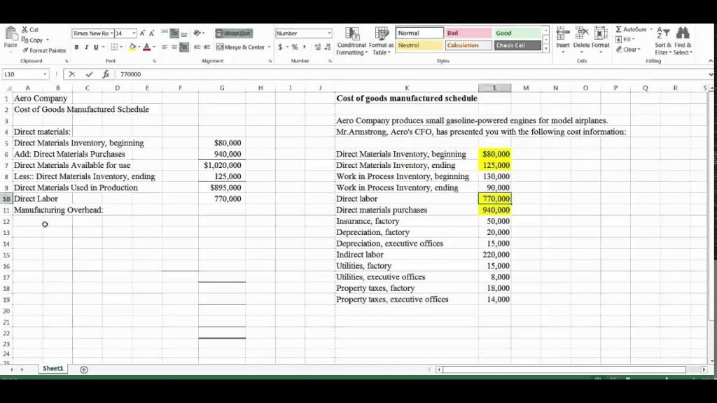 Preparing A Cost Of Goods Manufactured Schedule YouTube