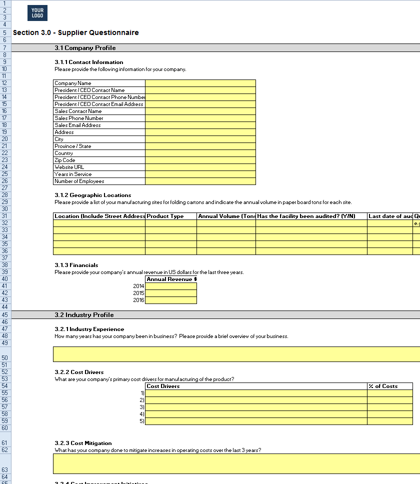Quotation Request Template Excel How I Successfuly