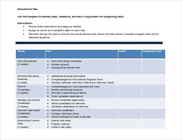 Recruitment Strategy Template 13 Free Word PDF