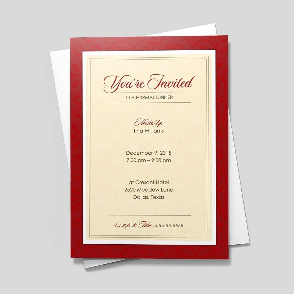 Red Formal Invitation INVITATIONS By Brookhollow
