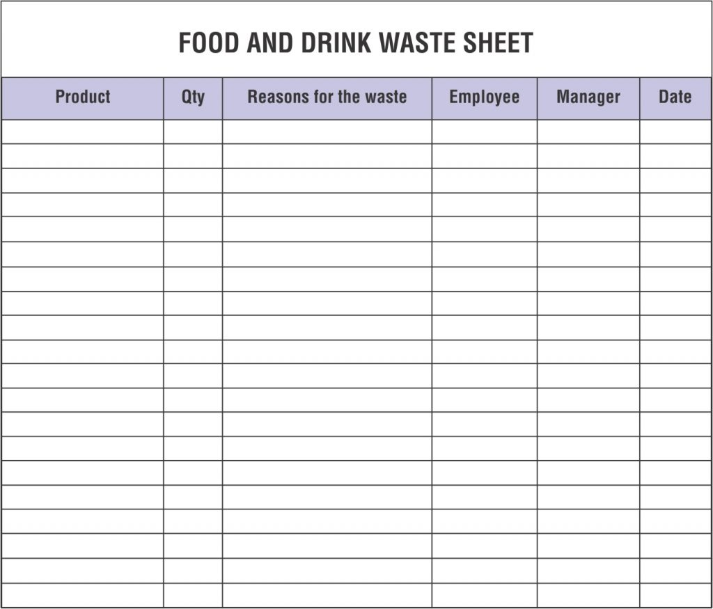 Restaurant Inventory Spreadsheets That You Must Maintain
