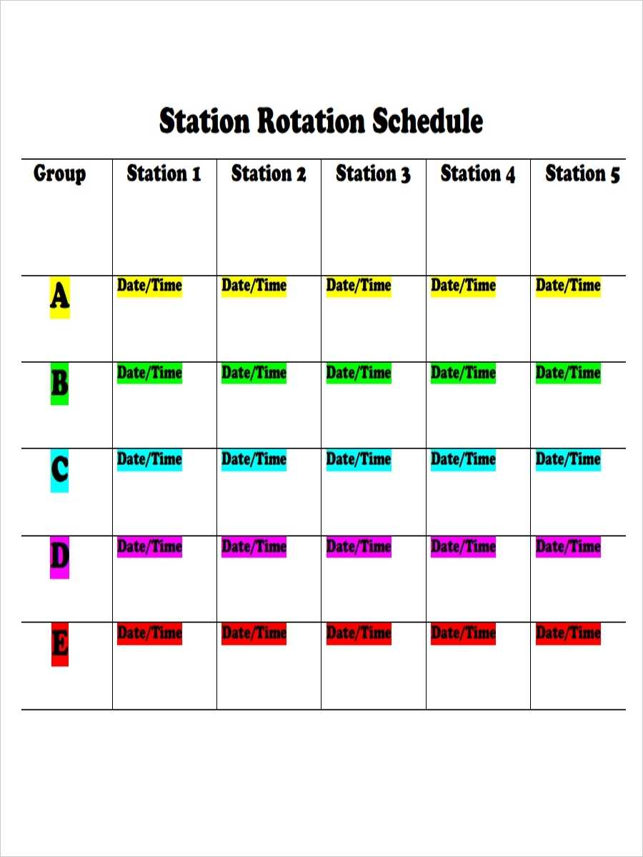 FREE 6 Rotation Schedule Examples Samples In PDF DOC