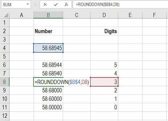 Excel Round Down Formula To Round Down Numbers In Excel