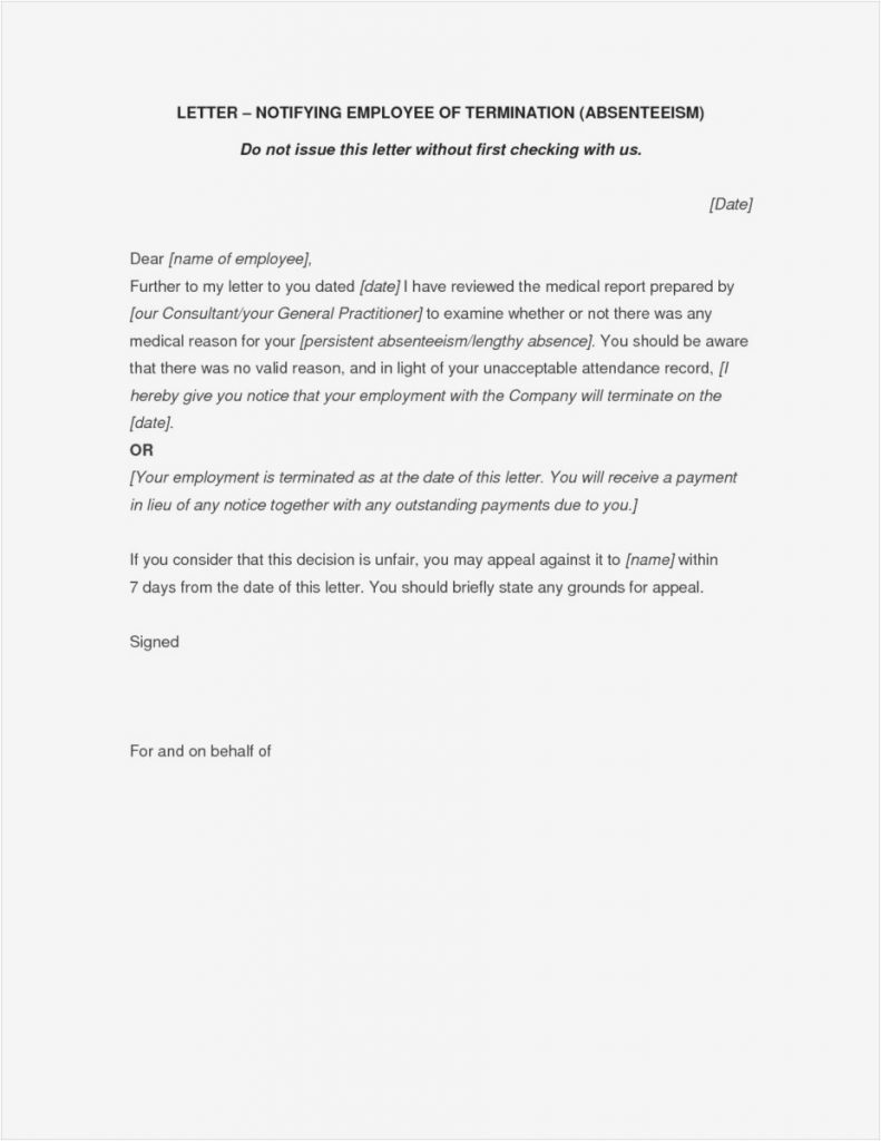 Separation Letter To Employee Template Collection Letter