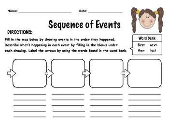 FREE Sequence Of Events Worksheet By Carly Taylor TpT