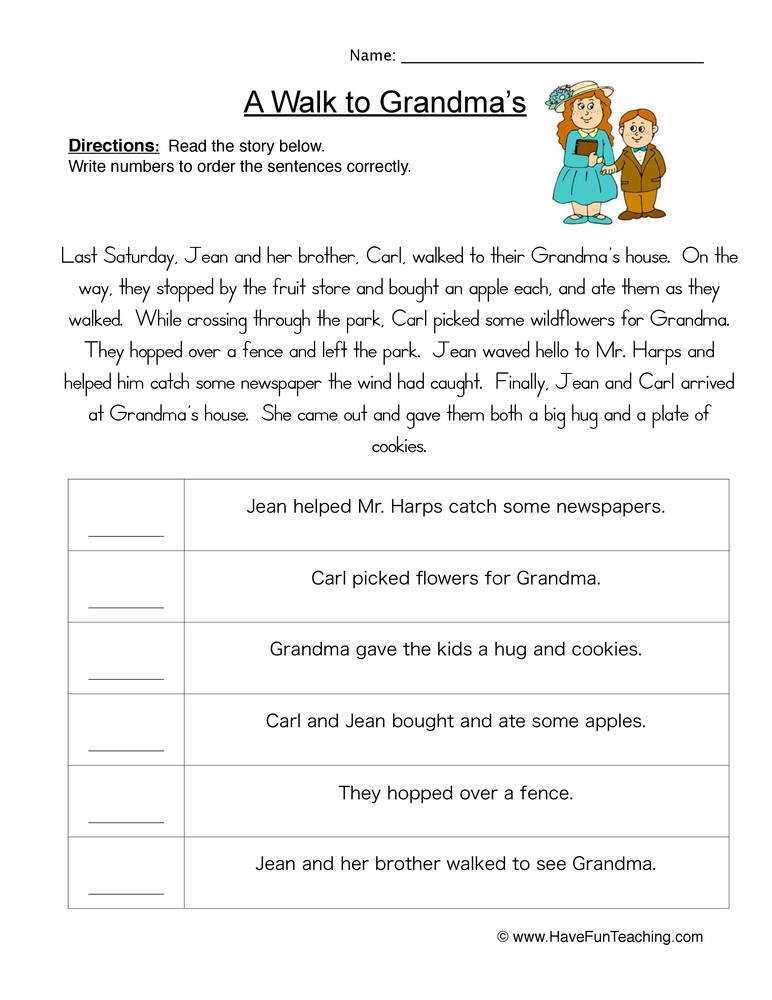 Sequence Of Events Worksheets Homeschooldressage