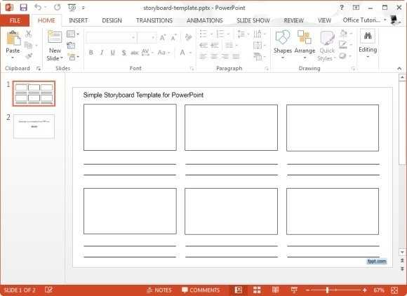 Simple storyboard template for microsoft powerpoint jpg FPPT