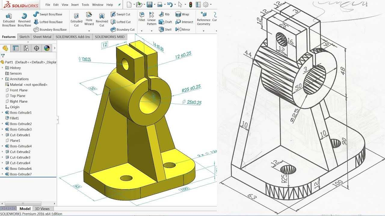 SolidWorks Tutorial For Beginners Exercise 2 YouTube