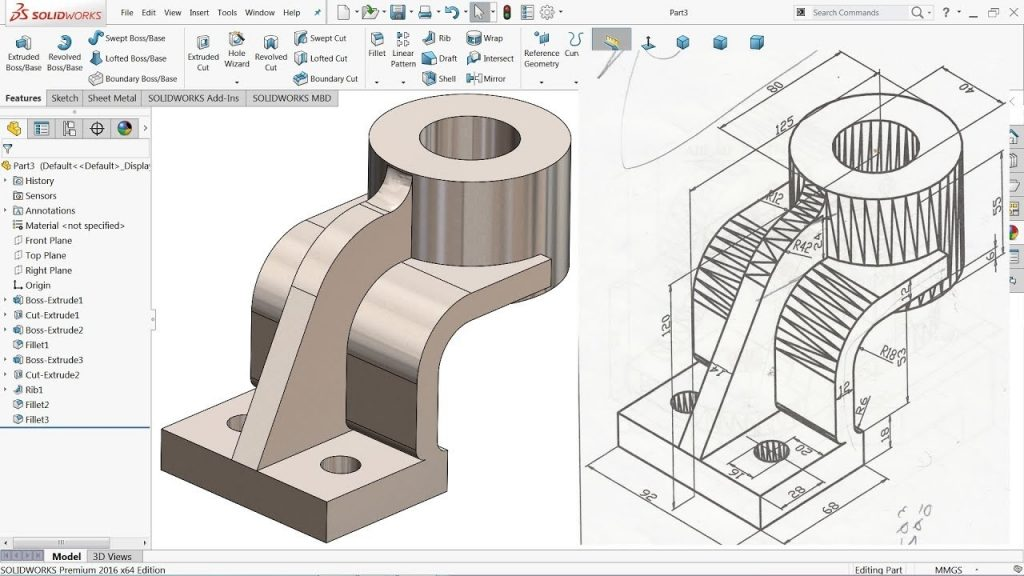 SolidWorks Tutorial For Beginners Exercise 7 YouTube
