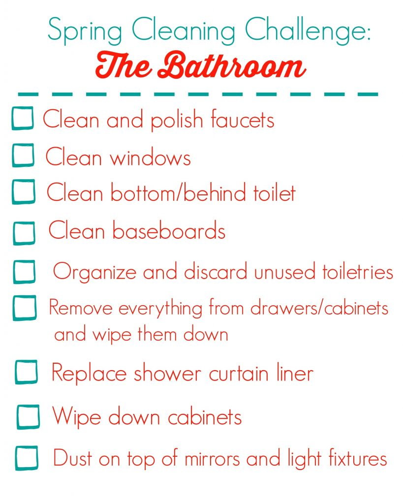 Spring Cleaning Challenge The Bathroom Happy Healthy Mama