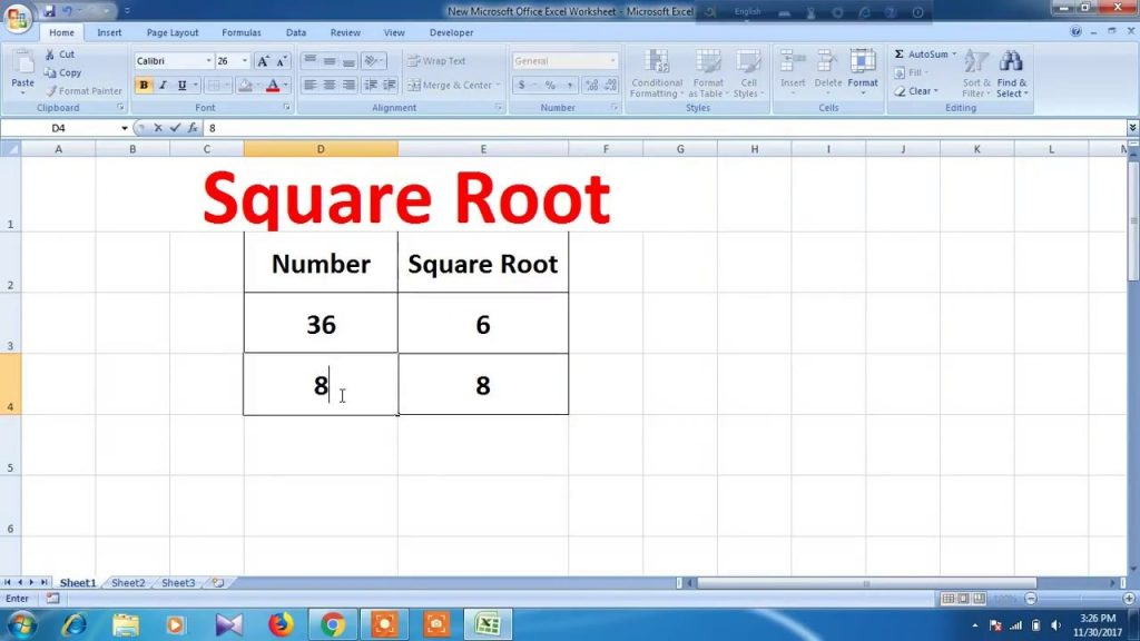 How To Use Square Root In Excel YouTube